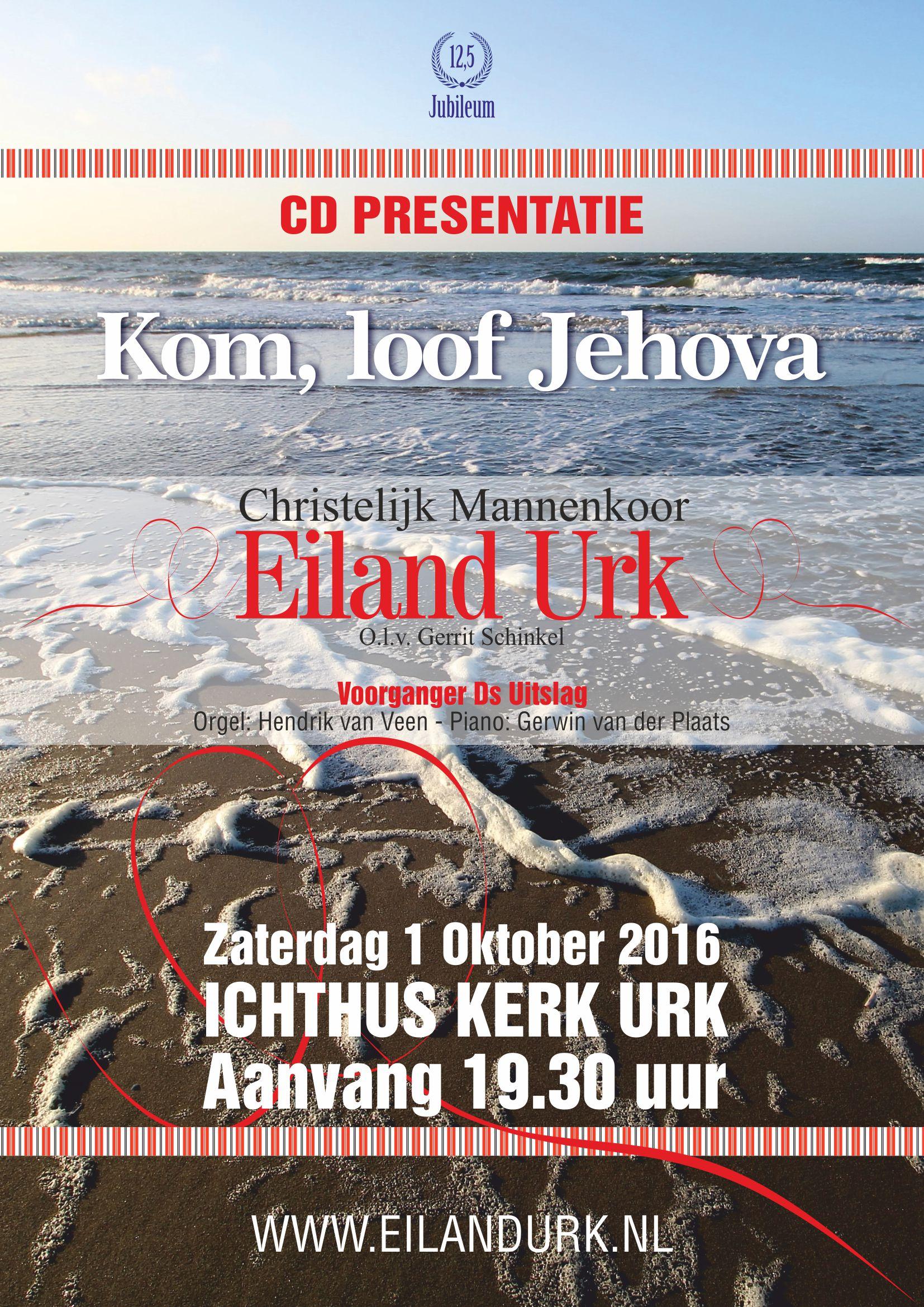 CD presentatie Christelijk mannenkoor Eiland Urk